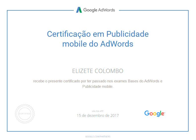 Certificação Google Adwords